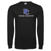 Presbyterian Black Long Sleeve T Shirt-Cross Country