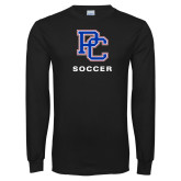 Presbyterian Black Long Sleeve T Shirt-Soccer
