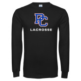 Presbyterian Black Long Sleeve T Shirt-Lacrosse