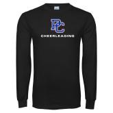 Black Long Sleeve T Shirt-Cheerleading