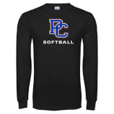 Presbyterian Black Long Sleeve T Shirt-Softball