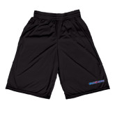 Midcourt Performance Black 9 Inch Game Short-Blue Hose