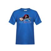 Youth Royal Blue T Shirt-Mascot
