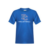 Youth Royal Blue T Shirt-Volleyball