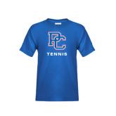 Youth Royal Blue T Shirt-Tennis