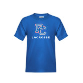 Youth Royal Blue T Shirt-Lacrosse