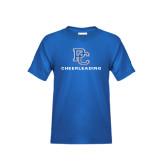 Youth Royal Blue T Shirt-Cheerleading