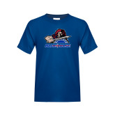 College Youth Royal T Shirt-Mascot