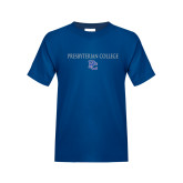 College Youth Royal T Shirt-Presbyterian College w PC