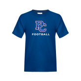 College Youth Royal T Shirt-Football