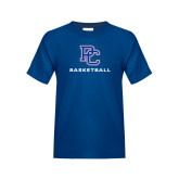 College Youth Royal T Shirt-Basketball