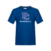 College Youth Royal T Shirt-Baseball