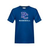 College Youth Royal T Shirt-Baseball