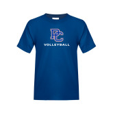 College Youth Royal T Shirt-Volleyball