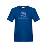 College Youth Royal T Shirt-Cheerleading