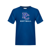 College Youth Royal T Shirt-Softball