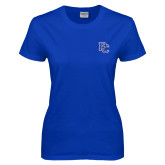 College Ladies Royal T Shirt-PC