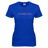 College Ladies Royal T Shirt-Blue Hose