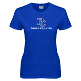 College Ladies Royal T Shirt-Cross Country