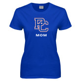 College Ladies Royal T Shirt-Mom