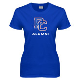 College Ladies Royal T Shirt-Alumni