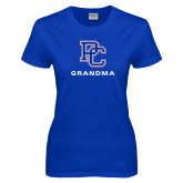 College Ladies Royal T Shirt-Grandma