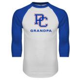 White/Royal Raglan Baseball T Shirt-Grandpa