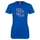 College Next Level Ladies SoftStyle Junior Fitted Royal Tee-PC