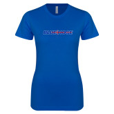 College Next Level Ladies SoftStyle Junior Fitted Royal Tee-Blue Hose