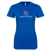 College Next Level Ladies SoftStyle Junior Fitted Royal Tee-Cross Country