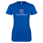 College Next Level Ladies SoftStyle Junior Fitted Royal Tee-Cheerleading