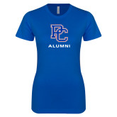 College Next Level Ladies SoftStyle Junior Fitted Royal Tee-Alumni