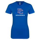 College Next Level Ladies SoftStyle Junior Fitted Royal Tee-Grandma