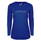 Ladies Syntrel Performance Royal Longsleeve Shirt-Blue Hose