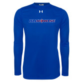 Under Armour Royal Long Sleeve Tech Tee-Blue Hose