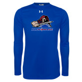 Presbyterian Under Armour Royal Long Sleeve Tech Tee-Mascot