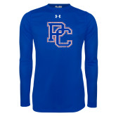 Presbyterian Under Armour Royal Long Sleeve Tech Tee-PC Distressed