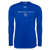 Presbyterian Under Armour Royal Long Sleeve Tech Tee-Presbyterian College w PC