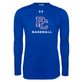 Presbyterian Under Armour Royal Long Sleeve Tech Tee-Baseball