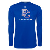 Presbyterian Under Armour Royal Long Sleeve Tech Tee-Lacrosse