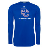 Presbyterian Under Armour Royal Long Sleeve Tech Tee-Grandpa
