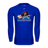 Under Armour Royal Long Sleeve Tech Tee-Mascot