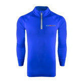 Under Armour Royal Tech 1/4 Zip Performance Shirt-Blue Hose