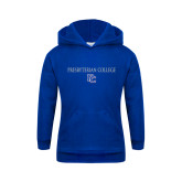 College Youth Royal Fleece Hoodie-Presbyterian College w PC