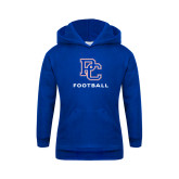 College Youth Royal Fleece Hoodie-Football