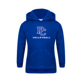 College Youth Royal Fleece Hoodie-Volleyball