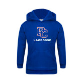 College Youth Royal Fleece Hoodie-Lacrosse