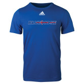 Adidas Royal Logo T Shirt-Blue Hose