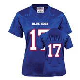 College Ladies Royal Replica Football Jersey-#17
