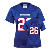 College Ladies Royal Replica Football Jersey-#26